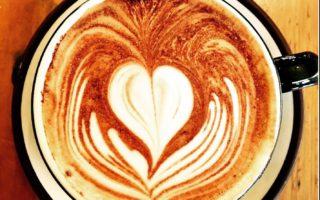 coffee art heart