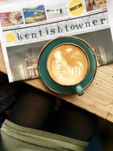newspaper, coffee