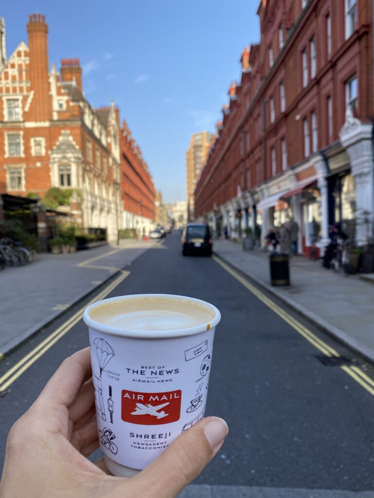 Coffee on Chiltern Street