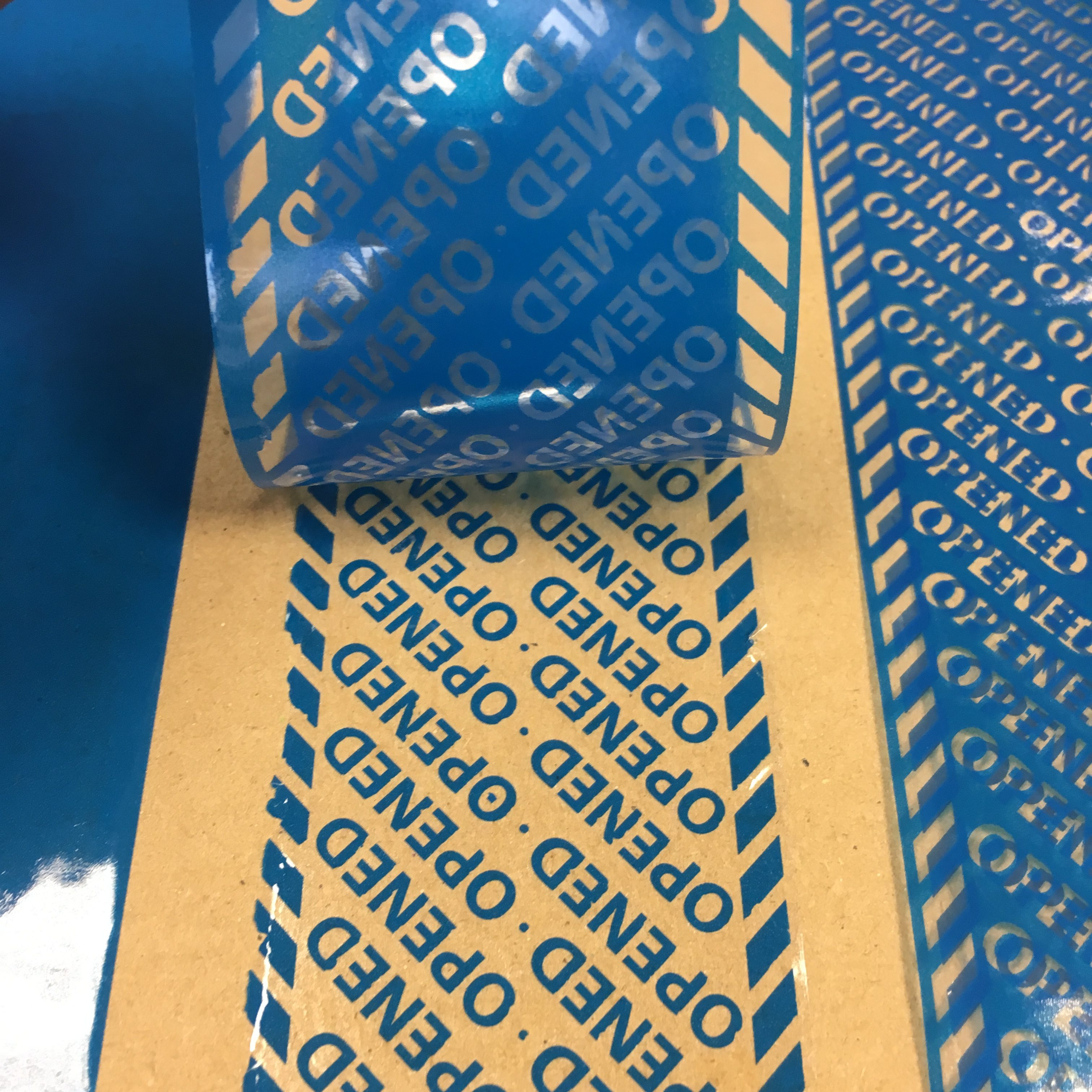 Blue Covert Tamper Evident Security Tape