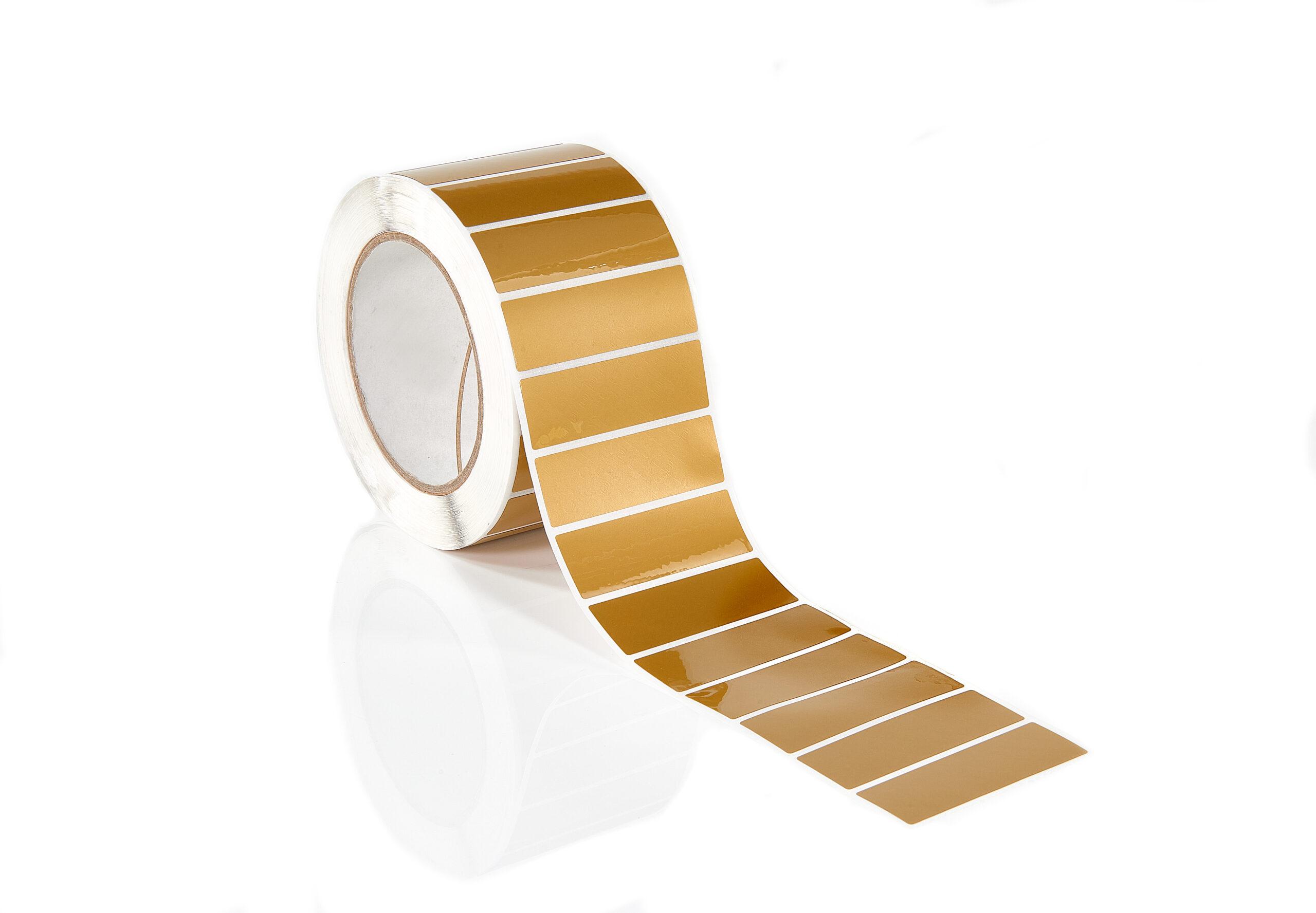 Gold Non Residue Label