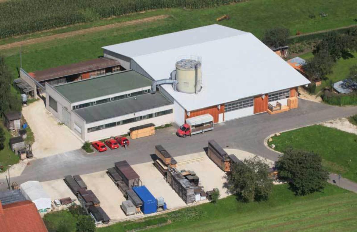 Luftaufnahme auf unsere Produktionsstätte <p>
