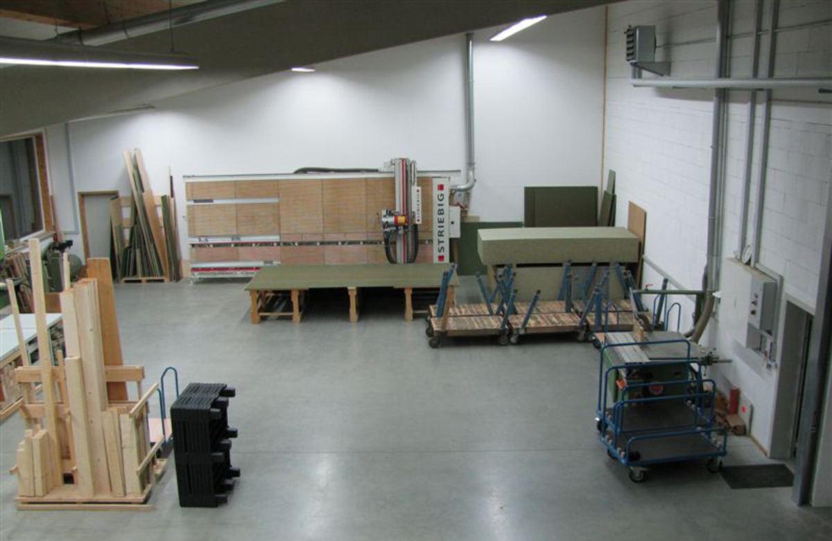 Wir sind mit einem modernen Maschinenpark ausgestattet...