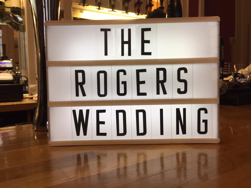 The Rogers' Wedding