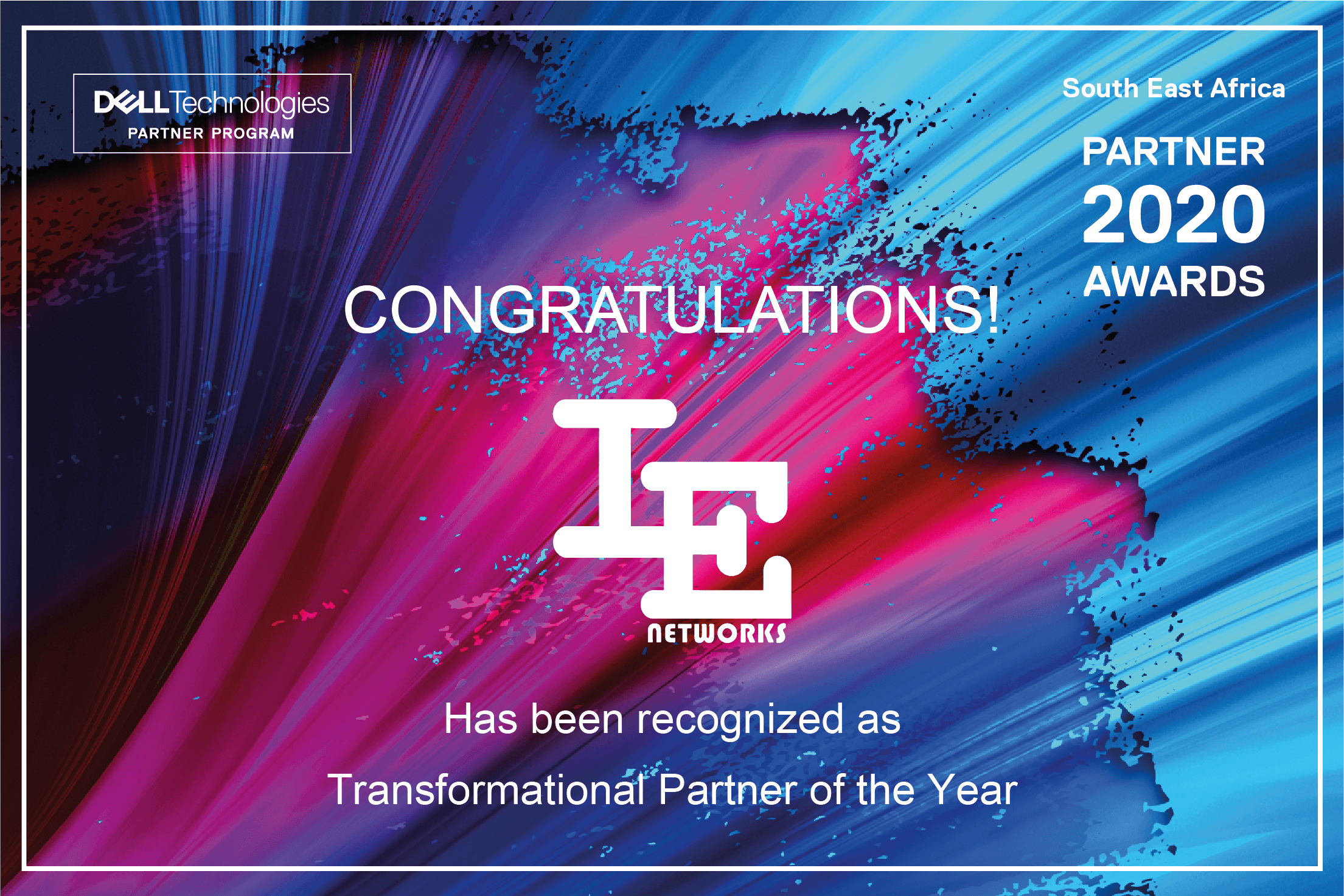 IE Networks Transformational Partner of the Year Award