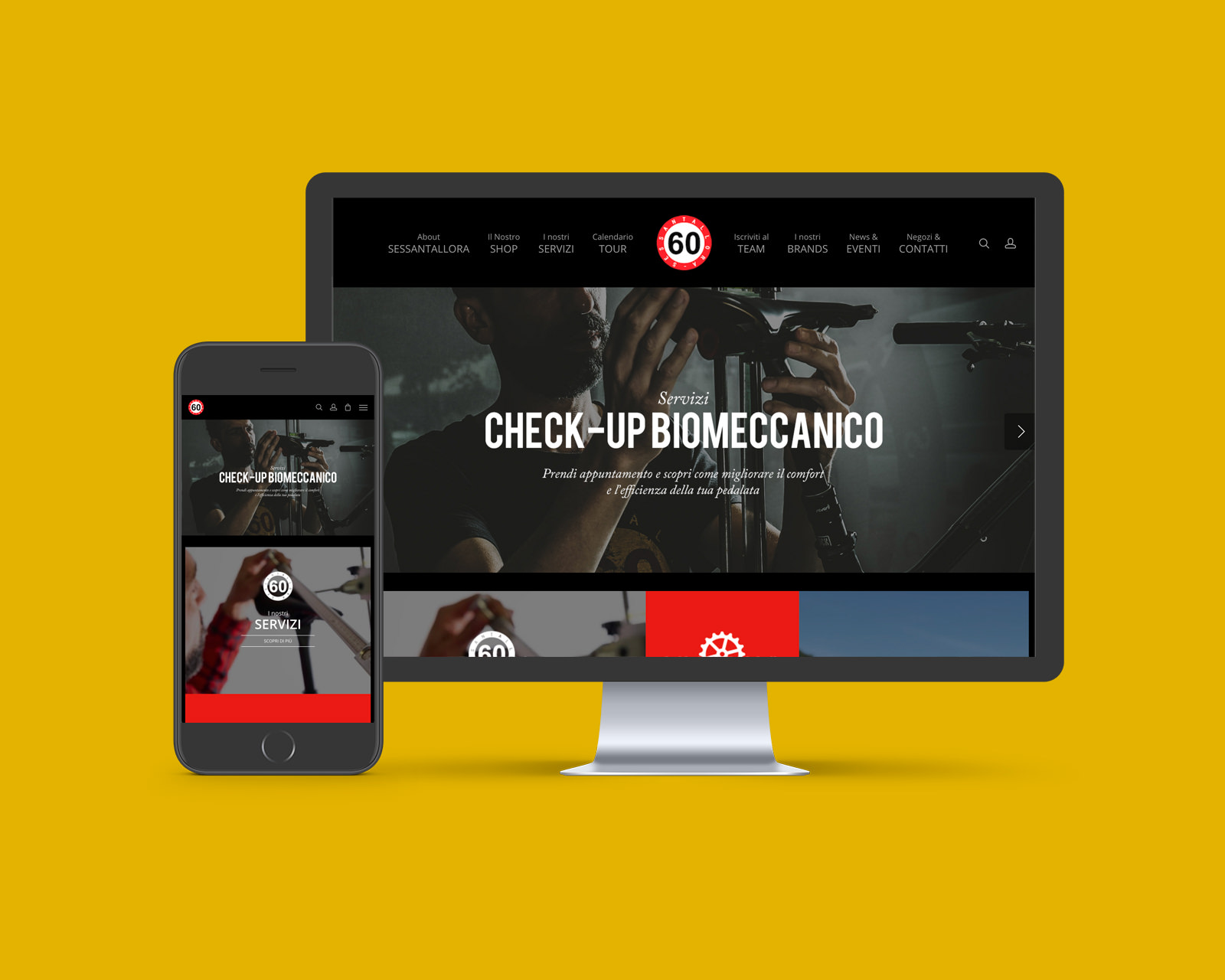 Sessantallora Website - Web Graphic Design