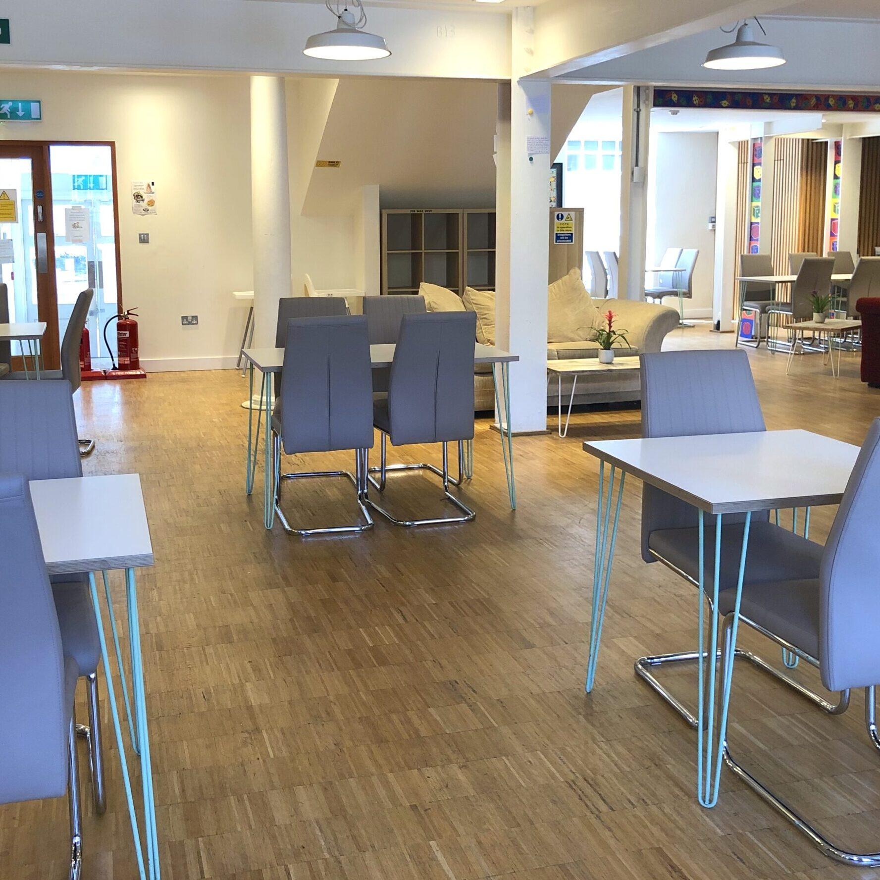 coronavirus cafe area
