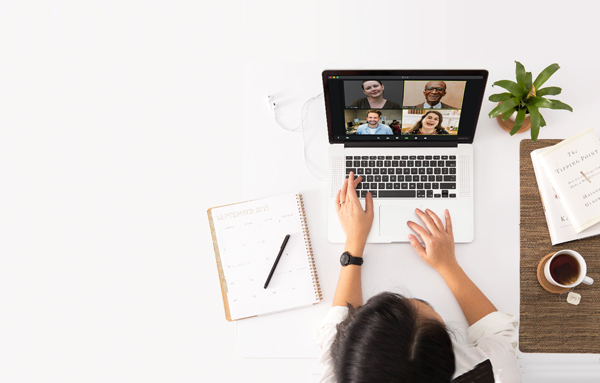 Participating in a zoom meeting