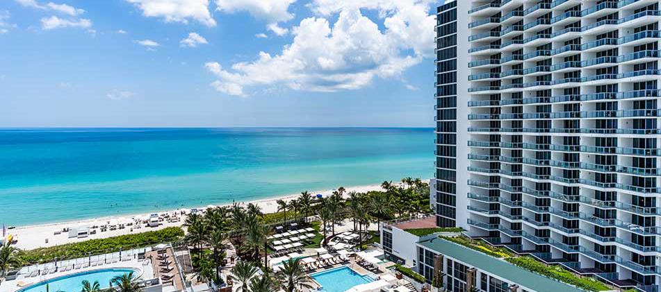 Aerial view of Eden Roc, Miami