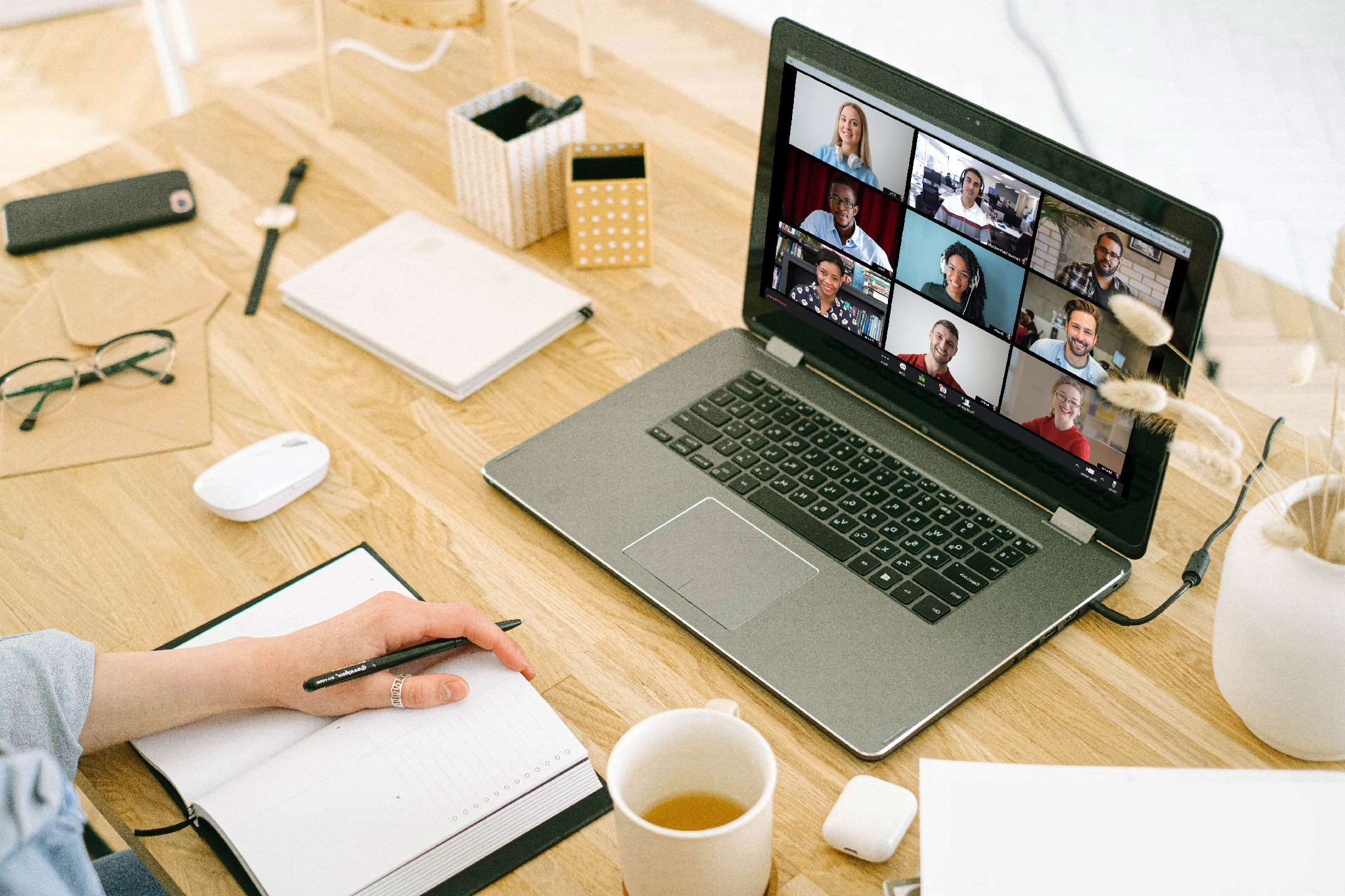 Person on a zoom meeting