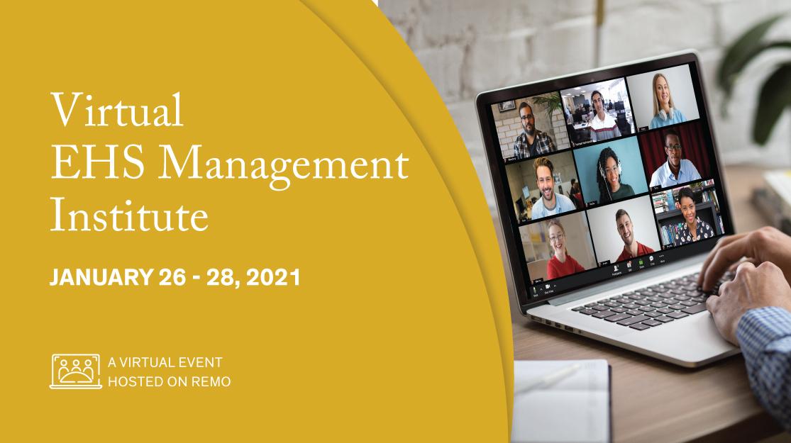 Virtual EHS Management Institute banner