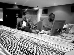 Kwame at work in Studio