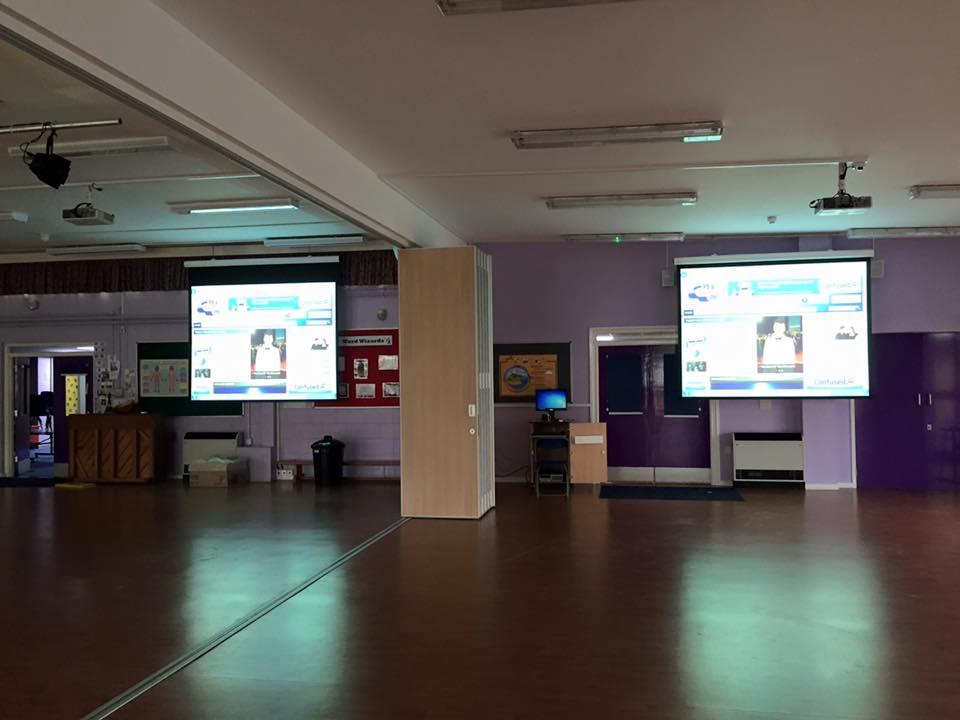 Duel Hall projector install