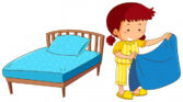 Make the bed - Hacer la cama