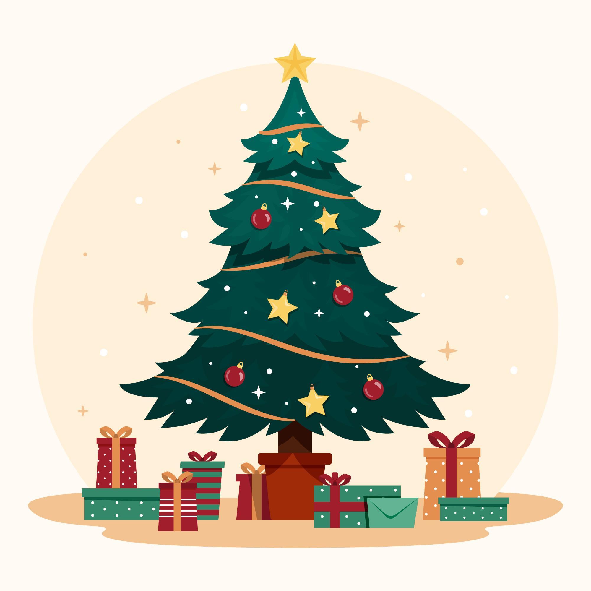 Set up a Christmas tree - Montar el árbol de Navidad