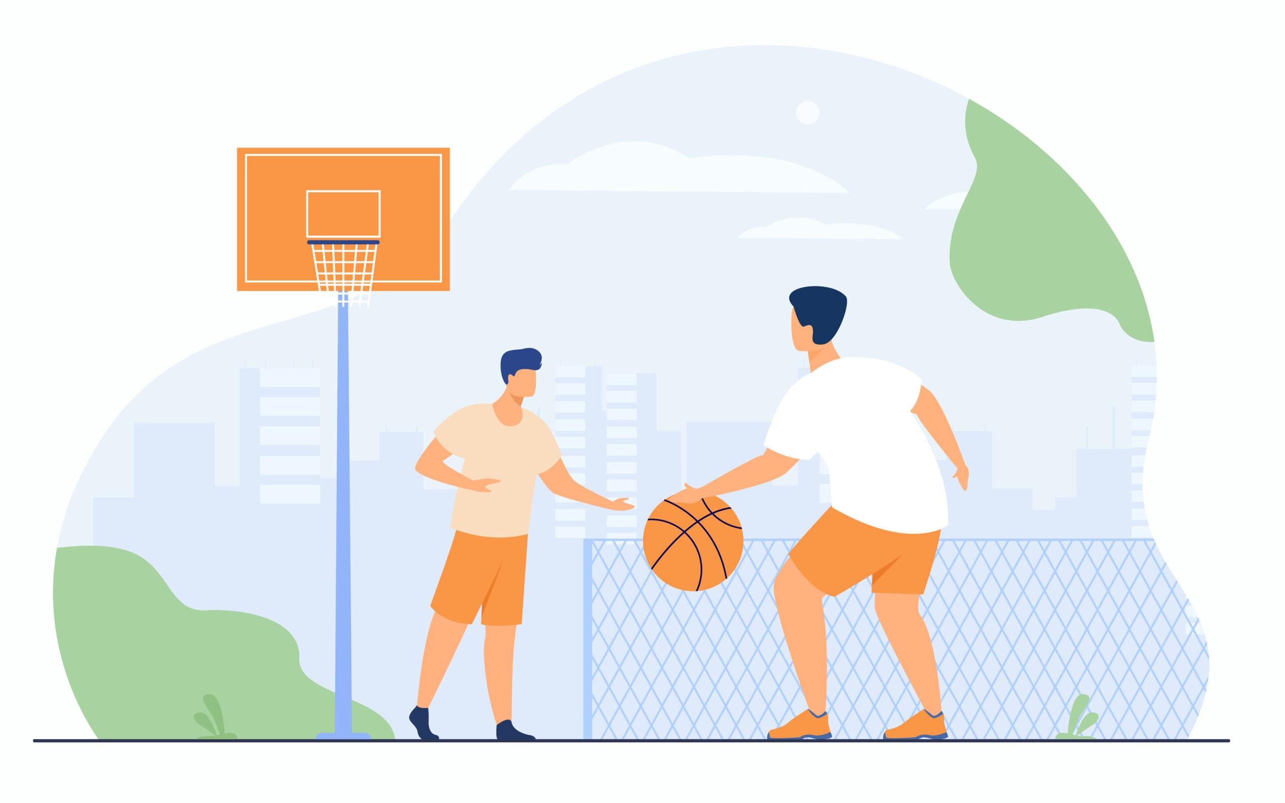 PLAYING BASKETBALL - Jugando al baloncesto