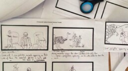 Storyboard from PSF production
