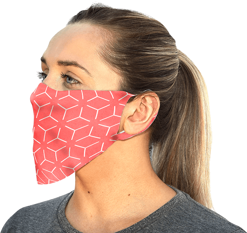 Comfortable reusable Bumpaa face mask can be branded for your business