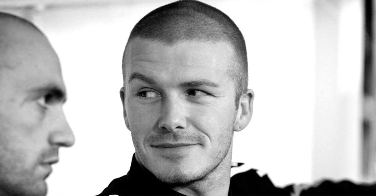 David Beckham with a buzz cut