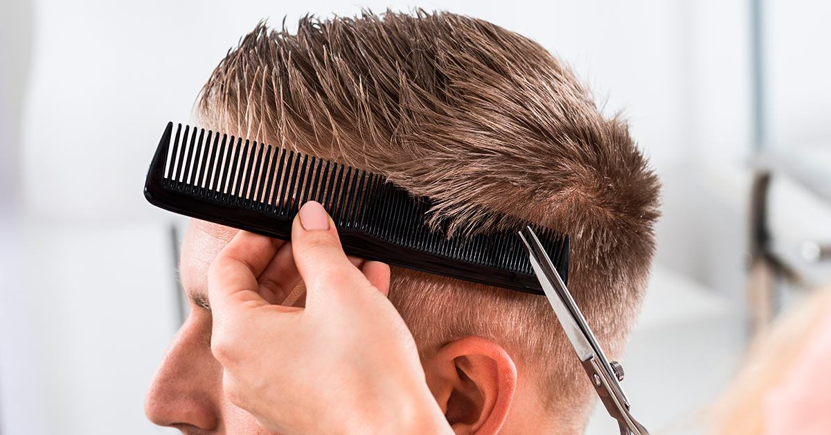 Cutting a spiked hairstyle