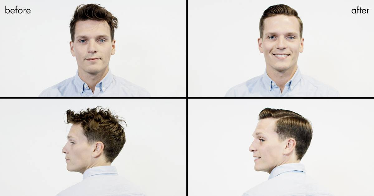 Before and after the Michael Fassbender haircut