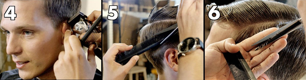 Trim the edges, scissor over comb, join the top and the sides