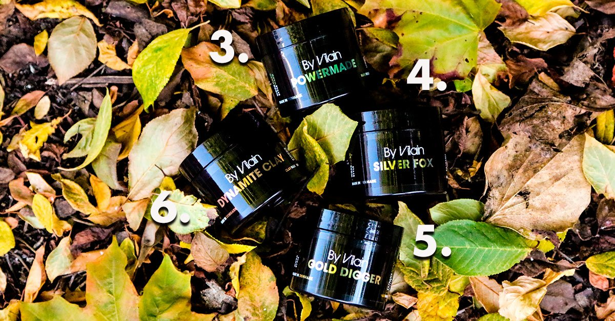 By Vilain hair products lying on leaves
