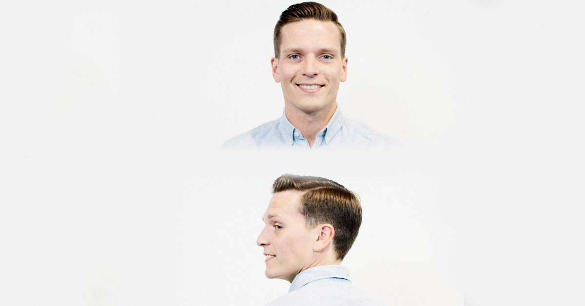 The classic side part hairstyle
