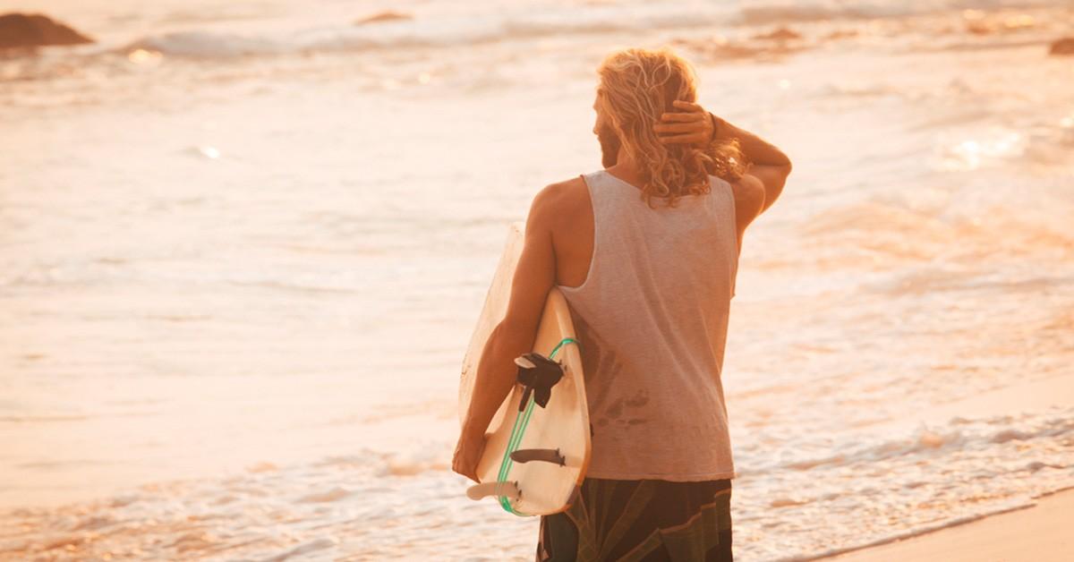 The surfer look hair