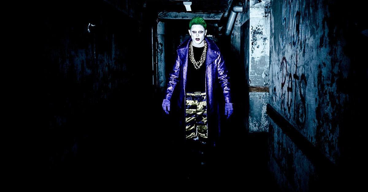 The Joker in a dark tunnel