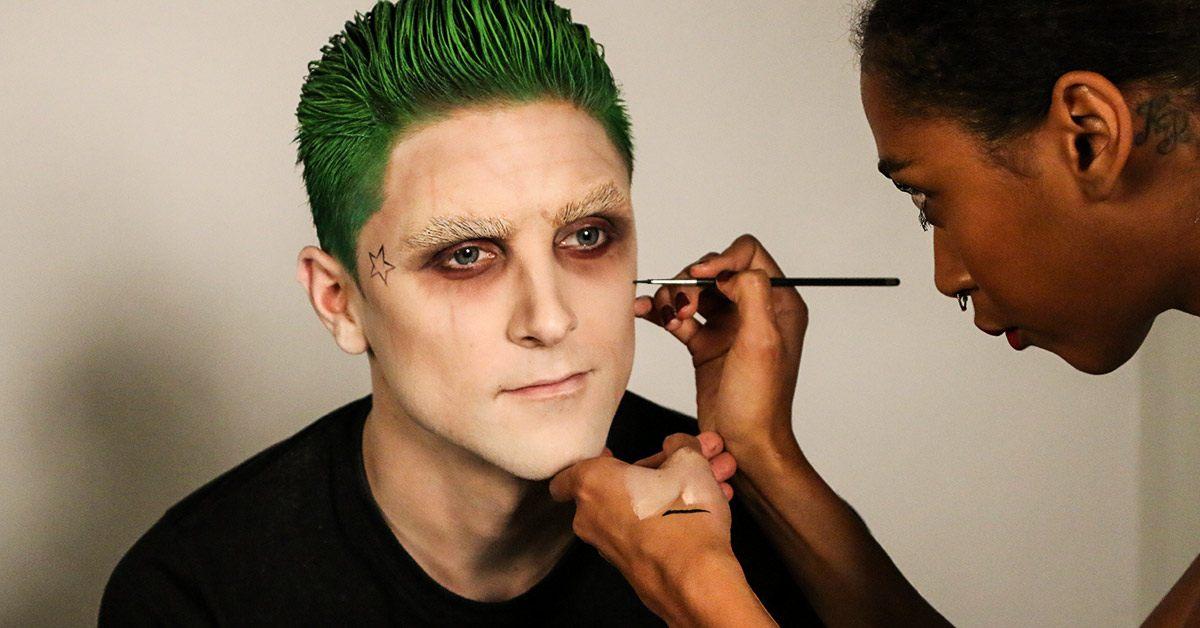 Painting Joker tatoos