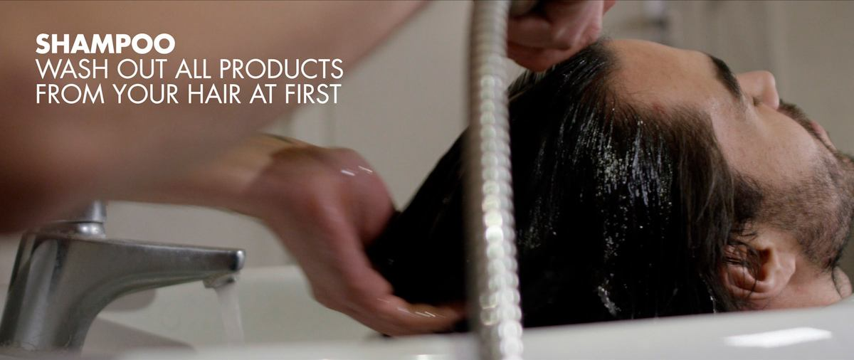 Shampoo wash out all products from your hair