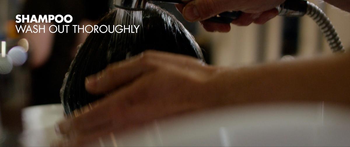 Wash out the shampoo