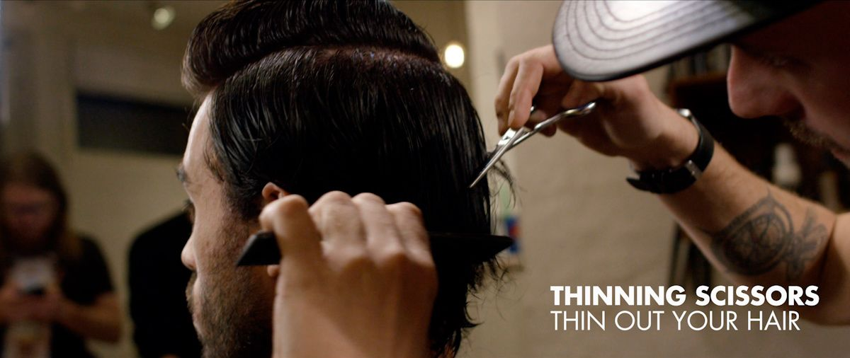 Thinning scissors thin out your hair