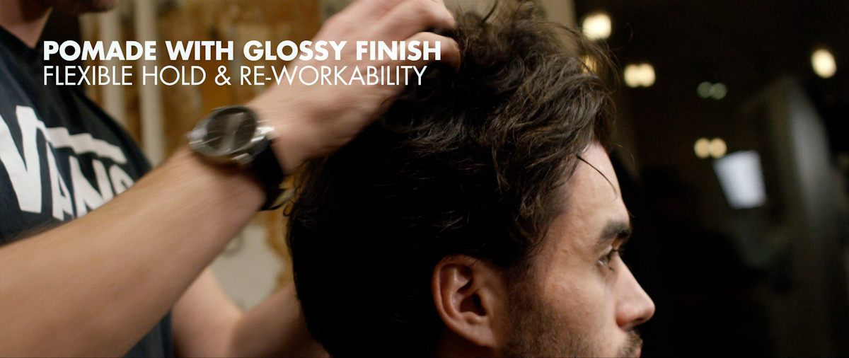 Working Powermade into the hair