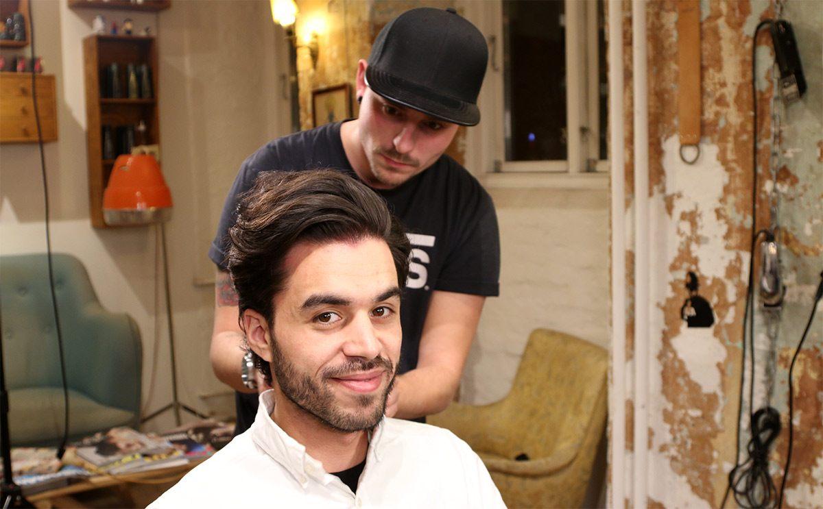 Finishing off the haircut