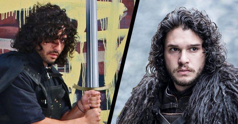 Jon Snow hairstyle