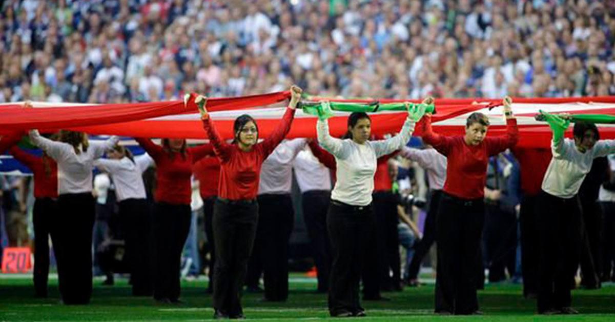 Volunteers at Super Bowl