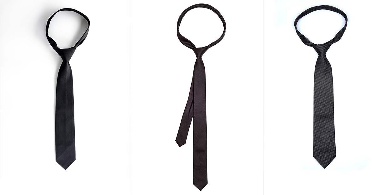 Simple dark ties