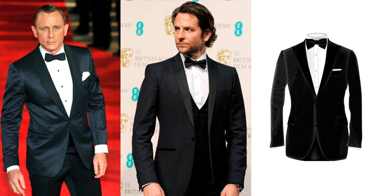 Tuxedo jackets with clean sleek lines