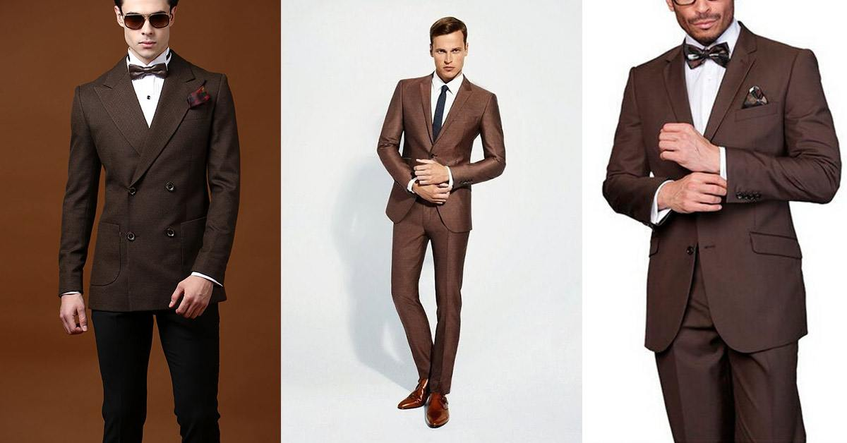 Stylish brown tuxedos