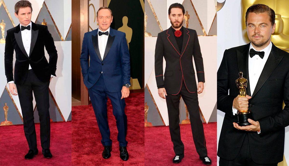 Eddie Redmayne, Kevin Spacey, Jerad Leto and Leonardo DeCaprio on the red carpet