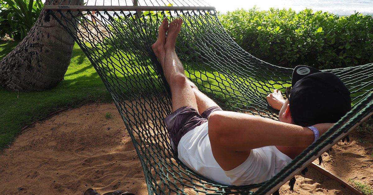 Chilling in hammock