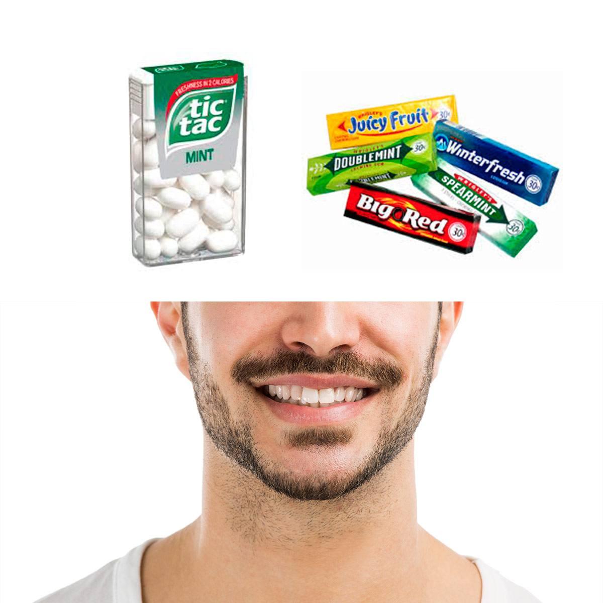 Tic Tac Mint, gum and a smiling man