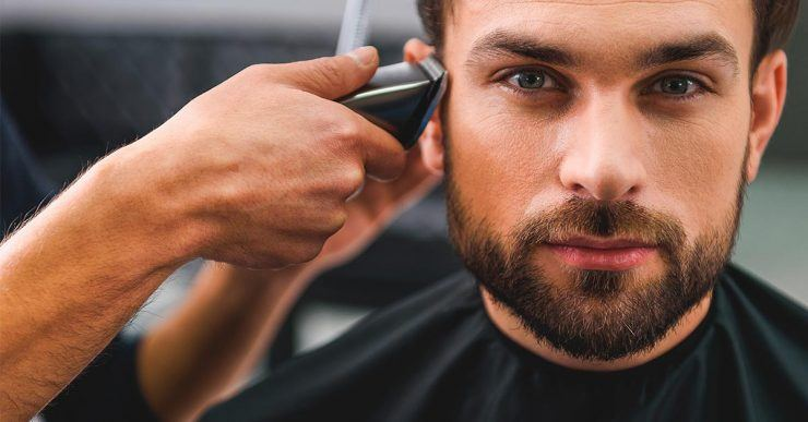 Getting sides cut with trimmer