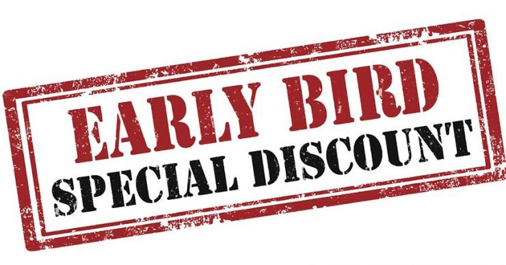 Early bird special discount