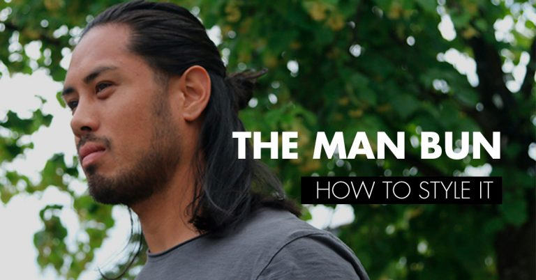 Long hair man bun and how to style it