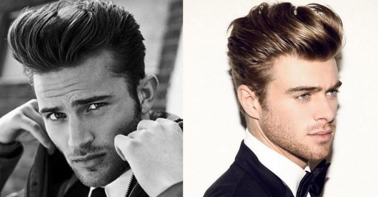 The classic pompadour hairstyle