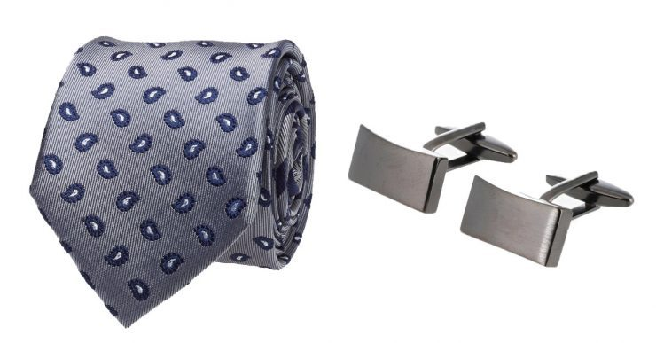 Awesome tie and cufflinks