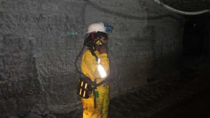 Miner making Wi-Fi call underground